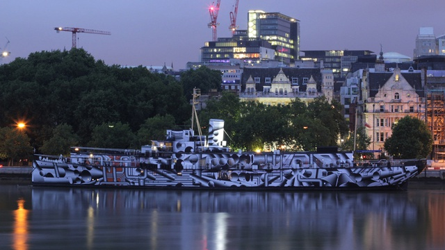 DAZZLE SHIP London, Tobias Rehberger, 2014. Image credit - David Kew
